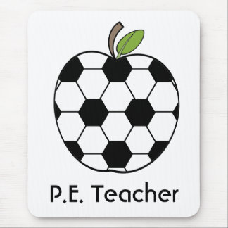 P.E. Teacher Soccer Ball Apple Mousepad