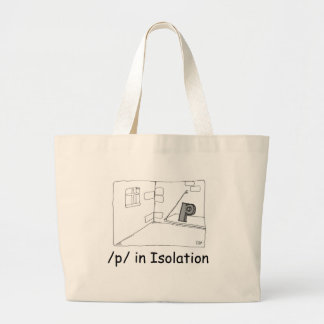 P In Isolation Tote Bags