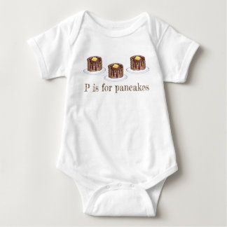 P is for Pancakes Letter P Flapjack Short Stack Baby Bodysuit