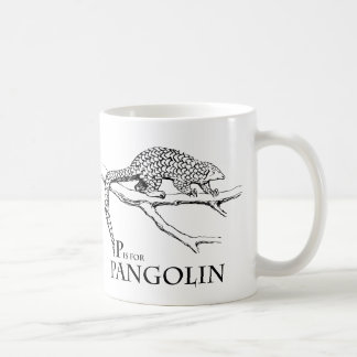 P is for Pangolin mug