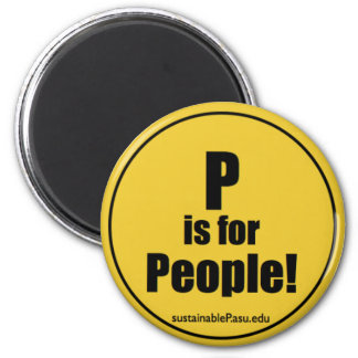 P is for People! (magnet) 6 Cm Round Magnet