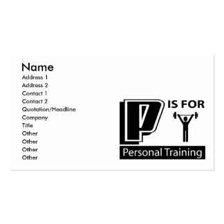 P Is For Personal Training Business Card