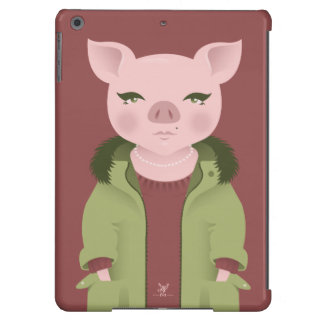 P is for Pig in a Parka with Pearls iPad Air Cover