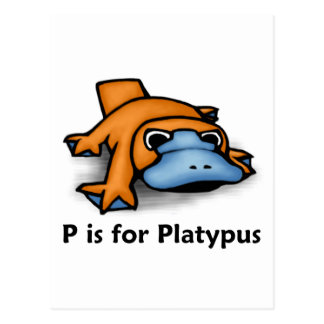 P is for Platypus Postcard