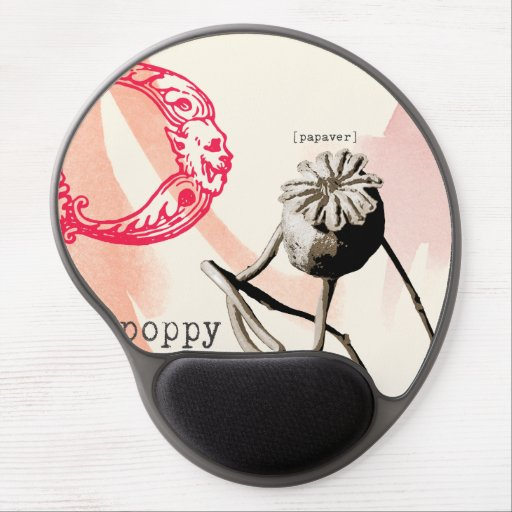 P is for poppy gel mouse mat