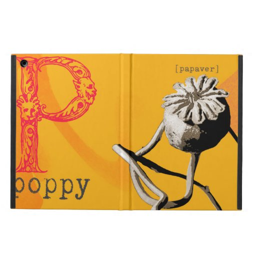 P is for poppy iPad air covers