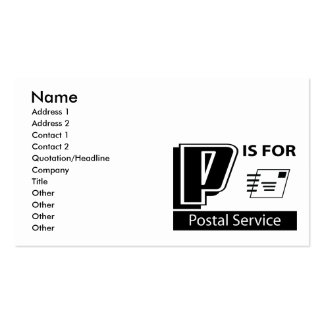 P Is For Postal Service Business Card