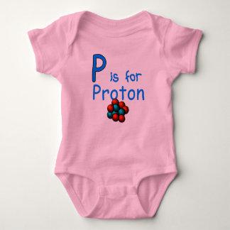 P is for Proton Baby Bodysuit