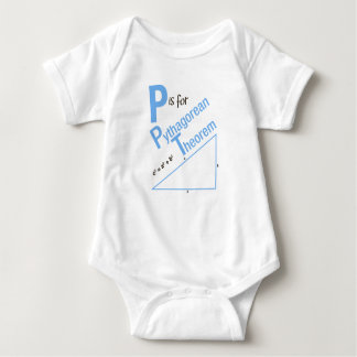P is for Pythagorean Theorem Geometry Design Baby Bodysuit