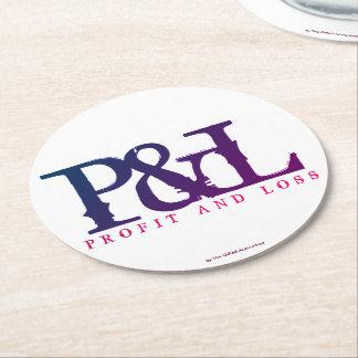 """""""P&L"""" ROUND PAPER COASTER"""