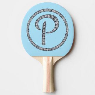P monogram bling ping pong paddle
