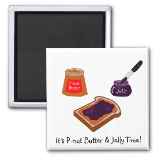 P-nut Butter & Jelly Time Magnet