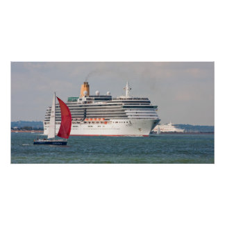 P O cruise ship Arcadia leaving England Posters