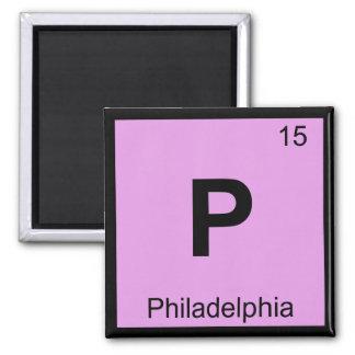 P - Philadelphia Pennsylvania Chemistry Periodic Square Magnet