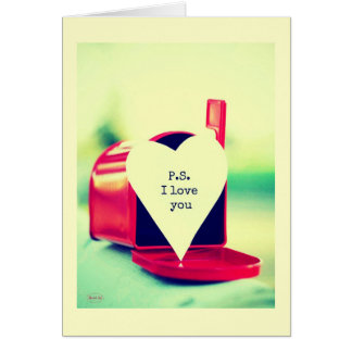 P.s I love you Greeting Card