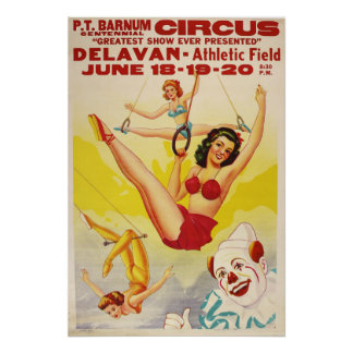 P.T. Barnum Centennial Circus Poster