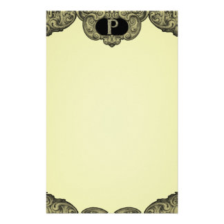 P - The Falck Alphabet (Golden) Customised Stationery