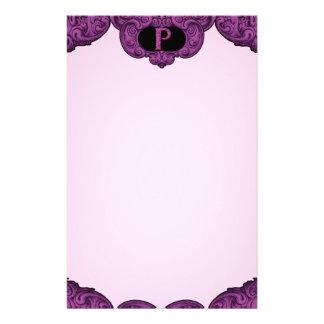 P - The Falck Alphabet (Pink) Custom Stationery