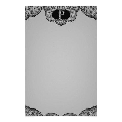 P - The Falck Alphabet (Silvery) Customized Stationery