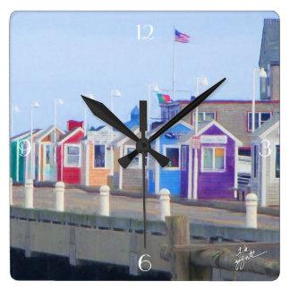 P-Town Cabins Unique Artistic Square Wall Clock