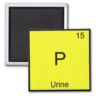P - Urine Chemistry Element Symbol Funny Periodic Square Magnet