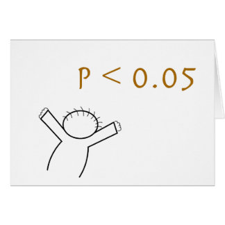 P-value card for statisticians