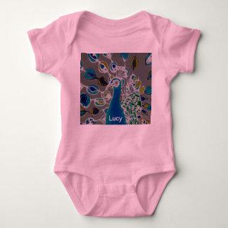 © P Wherrell Baby girl's clothing Creeper peacock