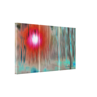 © P Wherrell Fine art mysterious light in the wood Canvas Print