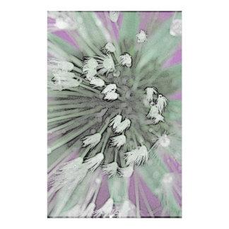 © P Wherrell  Fine art pink trendy dandelion seeds Stationery Paper