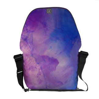 © P Wherrell Floral abstract in blue and purple Courier Bags