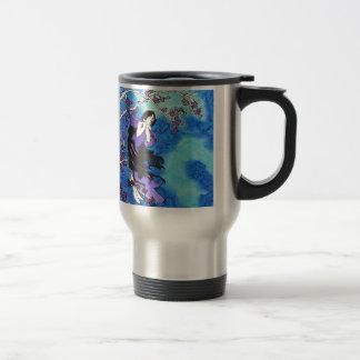 © P Wherrell Inspired by Alphonse Mucha 15 Oz Stainless Steel Travel Mug