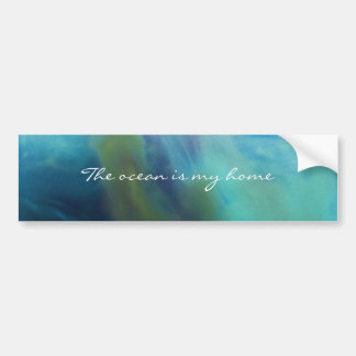 © P Wherrell Mermaid abstract figure ocean sea Bumper Sticker