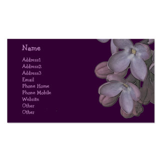 © P Wherrell Trendy artistic lilac flowers Pack Of Standard Business Cards