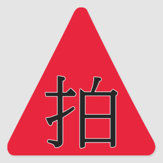 pāi - 拍 (photograph) triangle sticker