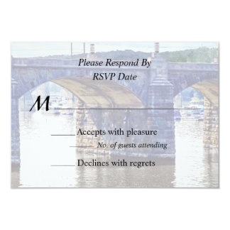 PA - Market Street Bridge Harrisburg 9 Cm X 13 Cm Invitation Card