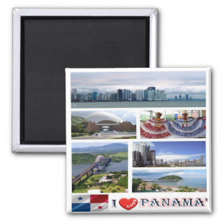 PA - Panama - I Love - Collage Mosaic Magnet