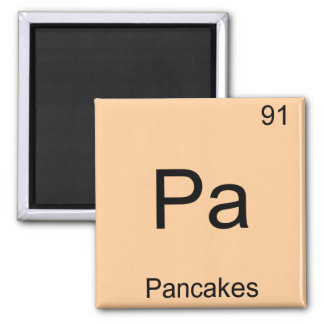 Pa - Pancakes Funny Chemistry Element Symbol Tee Refrigerator Magnet