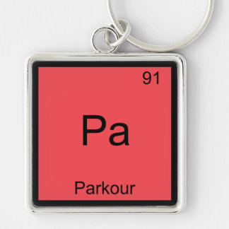 Pa - Parkour Funny Chemistry Element Symbol Tee Key Ring