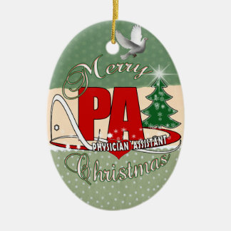 PA PHYSICIAN  ASSISTANT MERRY CHRISTMAS CERAMIC ORNAMENT