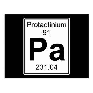 Pa - Protactinium Postcard