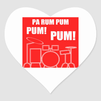 Pa Rum Pum Pum Pum Heart Sticker
