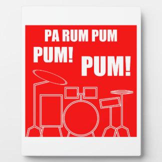 Pa Rum Pum Pum Pum Plaque