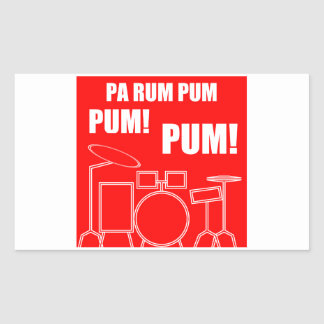 Pa Rum Pum Pum Pum Rectangular Sticker