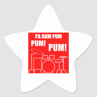 Pa Rum Pum Pum Pum Star Sticker