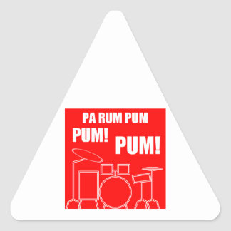 Pa Rum Pum Pum Pum Triangle Sticker