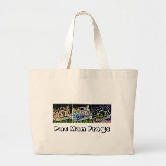 Pac Man Frogs Large Tote Bag