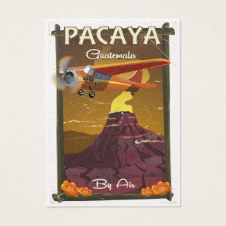 Pacaya Volcano Guatemala travel poster Business Card