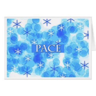 Pace Peace Italian Christmas Greeting Card