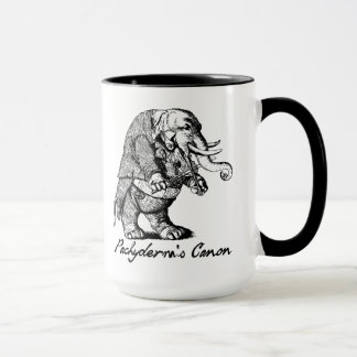 Pachyderm's Canon Violin playing Elephant Fiddle Mug