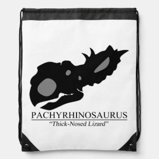 Pachyrhinosaurus Skull Drawstring Bag